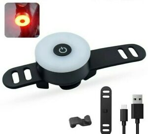 UK stock USB Rear Tail Bike Light 5 Modes Compact Rechargeable LED fit Brompton