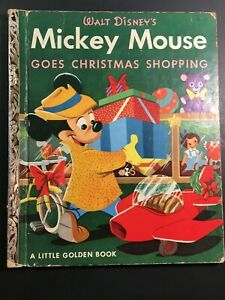 Mickey Mouse Goes Christmas Shopping, A Little Golden Book,1953
