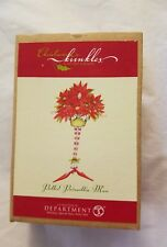 Krinkles Patience Brewster Potted Poinsettia  Man Ornament Dept 56