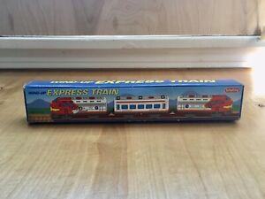 "Wind up Tin Express Train Schylling 12.5"" Long New Open Box"