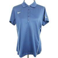 NEW Nike Golf Dri Fit Womens Polo Shirt Size L Hewlett Packard Logo Navy Blue
