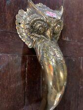 """large OWL Door pull handle 14"""" long pure 100% solid brass hook door 36cm hollowB"""