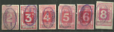 2D 3 4 5 8 9 LONDON AND NORTH WESTERN RAILWAY PARCEL STAMPS COVENTRY IN VIOLET