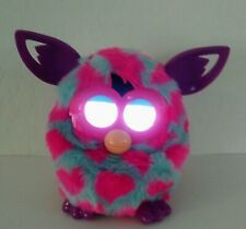 RARE Hasbro Furby Boom  Blue Pink Spots Purple Ears Interactive