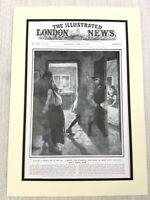 1915 WW1 Original Aufdruck Gefangenen Deutsche Spion Britisch Soldat Provost