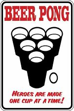 Beer Pong Heroes one cup at a time Funny Novelty Stickers JDM Euro Lrg SM1-84