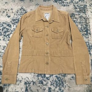 Old Navy Tan Corduroy Trucker Jacket Women's Medium