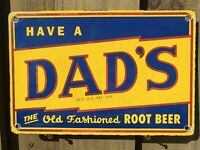 VINTAGE DADS ROOT BEER PORCELAIN SIGN OLD FASHIONED SODA POP OIL GAS PETROLIANA