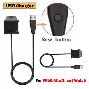 For Fitbit Alta Smart Watch USB Charger Charging Cable +Reset Button Replacement