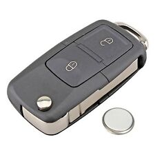 2 Button Remote Key Fob Case Service Kit Battery + Logo For VW Transporter T5