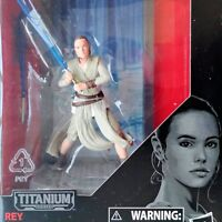REY (STARKILLER BASE) Star Wars TFA The Black Series Titanium #08 Figure NIB