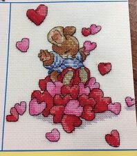 "Country Companions Cross Stitch Chart: ""I Love You"""
