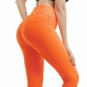 Women Butt Lift Leggings Anti-Cellulite High Waist Push Up Yoga Pants TikTok