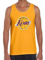 GOLD Kobe Bryant The Black Mamba LOGO Los Angeles Lakers TANK-TOP