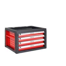Werkzeugkiste, Werkstattwagen Aufsatz 4 Schubladen, Aufsatz in rot