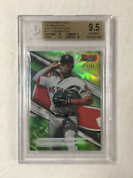 YOAN MONCADA 2016 Bowman's Best GREEN SP RC 63/99! BGS GEM MINT 9.5! SUB 10 x2!