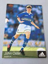 John Oster FC everton/País de Gales signed adidas-autografiada mapa 10 x 15