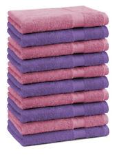 Betz 10 Toallas de cara 30x30cm PREMIUM 100% algodón de colores morado y rosa