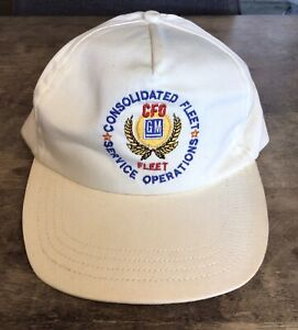 VINTAGE GM CFO CONSOLIDATED FLEET SERVICE OPERATIONS ADJUSTABLE HAT TERRY CLOTH