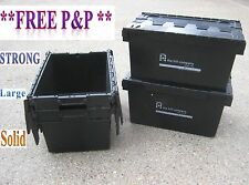 5 LARGE Used Removal Storage Crate Box Container 80L