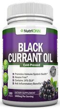 Black Currant Oil - 1000 Mg - 180 Softgels - Cold-Pressed - Hexane Free