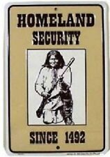 """Vintage Homeland Security American 12"""" x 8"""" Metal Sign ~ Made In The Usa!"""