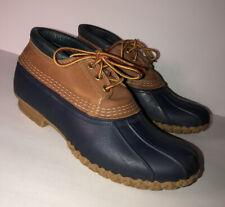 LL Bean Bean Boots Navy Rubber Duck Shoes Women's 10 Narrow