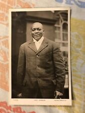 Jack Johnson Rotary Boxing Postcard Vintage World Champion