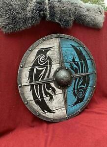 Medieval Eivor Valhalla Shield  Raven Shield Authentic Battleworn Viking Shield