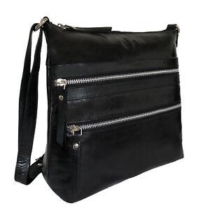 55% Off Rowallan Black Leather Cross Body, Shoulder Bag