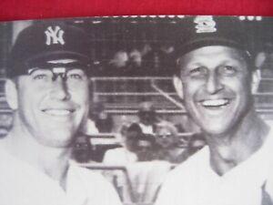 Mickey Mantle  Stan Musial  Postcard Rare  1950's or 1960's NY Yankees Baseball