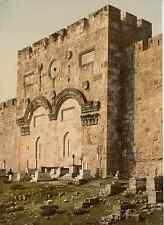 Jérusalem. La Porte Dorée, extérieur.   Photochrome original d'époque, Vint