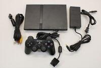 Sony PS2 SCPH-70000 Black Slim Console Cont AC AV Bundle Japan Import 2PC85