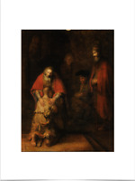 REMBRANDT VAN RIJN RETURN OF THE SON BIG BORDERS LIMITED EDITION ART PRINT 18X24