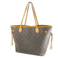 LOUIS VUITTON Neverfull MM M40996 Fuchsia Monogram Tote Hand Bag Used