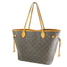 LOUIS VUITTON Neverfull MM M40996 Fuchsia Monogram Tote Hand Bag Used