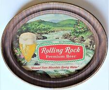 Vintage Rolling Rock Premium Beer - Oval Plastic Sign