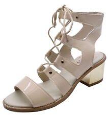 Escarpins chaussures à lacets beige pour femme