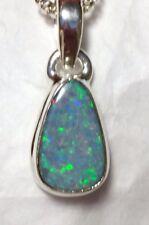"""Beautiful Australian Opal Pendant 7/8"""" 925 Sterling Silver🌹"""