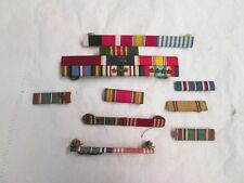 vintage lot of 9 US Military cloth ribbon medals