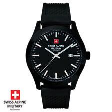 Swiss Alpine Military by Grovana . 7055.1877 . schwarz . Armband Uhr Herren NEU