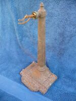 Antique Art Nouveau Architectural Iron Table Lamp Rare Example Very Nice Detail