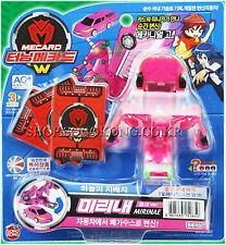 TURNING MECARD W MIRINAE PINK Toy Transformer CAR ROBOT Action Figure Korean TV