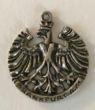 travel large charm medallion pendant 800 Frankfurt A M Germany Europe vintage