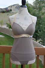Freya swimwear tankini, 32DD and XS, multi-color, NWT