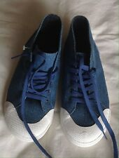 Dolce And Gabanna Women's Denim Laced Up Sneakers Trainers Canvas UK Size : 2