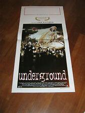 LOCANDINA,1995,Underground,Emir Kusturica, Cannes Palma d'oro