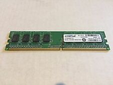 Crucial 1GB 240-Pin DIMM 128Mx64 DDR2 PC2-4200 RAM Memory -  CT12864AA53E