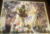 lenny moore signed 8x10 autographed photo picture nfl hof hall of fame colts