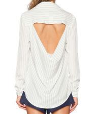 Peacekeeper shirt Finders Keepers Damen Bluse Pinstripe Bluse mit Nakte Rücken